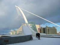 Мост Сэмюэла Беккета (Samuel Beckett Bridge) (Фото http://commons.wikimedia.org/wiki/File:Calatrava-bridge.JPG)